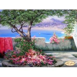 Терраса с видом на море - Тэла Артис - схема вышивки бисером