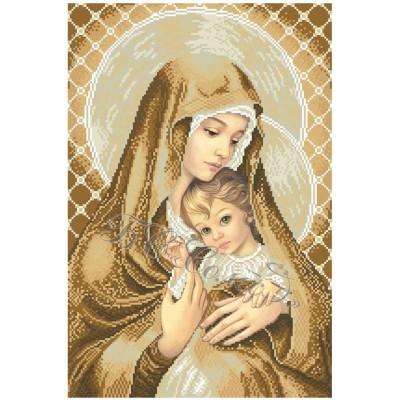 Мадонна с дитям (покорность) - БС Солес - вышивка бисером икон