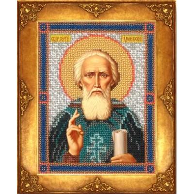 Икона Св. Сергий Радонежский - Русская искусница - вышивка бисером икон