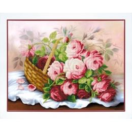 Корзина цветов - Чарівна Мить - набор вышивки бисером