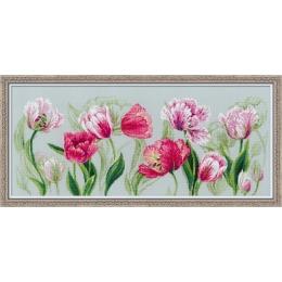 Набор для вышивки крестом - РИОЛИС - 100/052 Весенние тюльпаны
