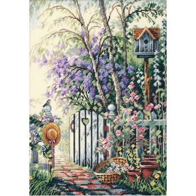 Вышивка калитка в сад купить ткань дюветин купить
