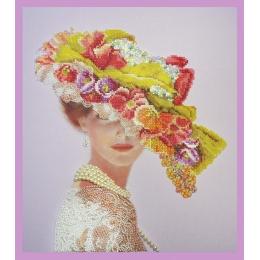 Викторианская дама - Картины бисером - набор для вышивки бисером