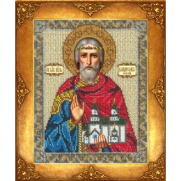 Икона Св. Владислав - Русская искусница - вышивка бисером икон