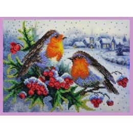 Зимняя песня - Картины бисером - набор для вышивки бисером