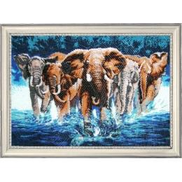 Африканские слоны - Butterfly - набор вышивки бисером