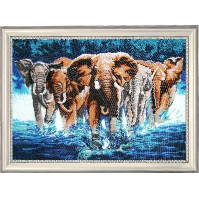 Африканские слоны - Butterfly - набор для вышивки бисером