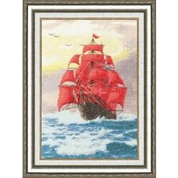 Набор для вышивки крестом - Золотое руно - ММ-015 Алые паруса