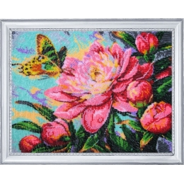 Набор для вышивки бисером - Butterfly - №243 Аромат пиона