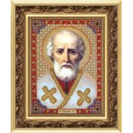Икона Николая Чудотворца - Чарівна Мить - вышивка бисером иконы