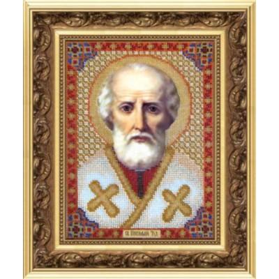 Вышивка бисером иконы - Чарівна Мить - Икона Николая Чудотворца