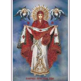 Икона ПОКРОВА ПРЕСВЯТОЙ БОГОРОДИЦЫ - Изящное рукоделие - вышивка бисером икон