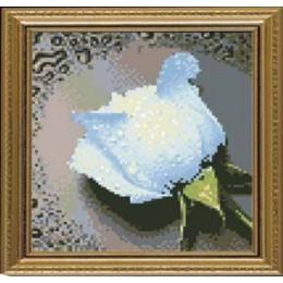 Набор для рисования камнями 7294 Белая роза