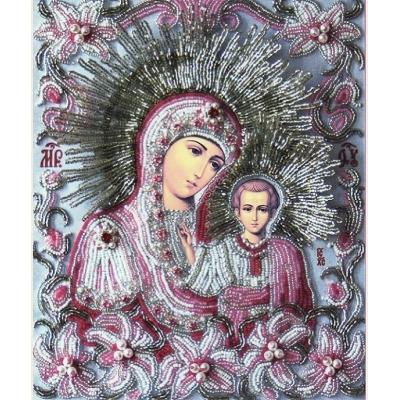 Икона БОГОРОДИЦА «КАЗАНСКАЯ» (часть венчальной пары «ЛИЛИИ») - Изящное рукоделие - вышивка бисером икон