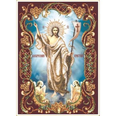 Вышивка бисером икон - Изящное рукоделие - Икона ВОСКРЕСЕНИЕ ХРИСТОВО (в рамке)