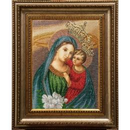 Богородица (Яблоневый цвет) - БС Солес - вышивка бисером икон