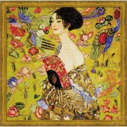 """""""Дама с веером"""" по мотивам картины Г.Климта - РИОЛИС - набор для вышивки крестом"""