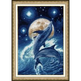Набор для вышивки крестом - Золотое Руно - Ф-031 Дельфины