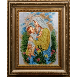 Икона Дева Мария Розария - БС Солес - вышивка бисером икон