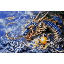 Авторский набор для вышивки бисером - Токарева А. - Голубой дракон 36-2688-НГ