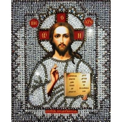 Икона Господь Вседержитель - Образа в каменьях - вышивка бисером икон