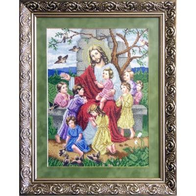 Набор для вышивки бисером икон - БС Солес - Иисус благословляет детей