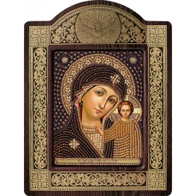 Икона Богородица Казанская (в рамке-киоте) - Нова Слобода - вышивка бисером икон
