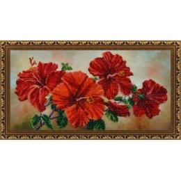 Китайская роза - Картины бисером - набор для вышивки бисером