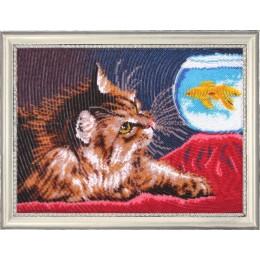 Котенок и золотая рыбка - Butterfly - набор для вышивки бисером