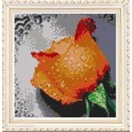 Набор для рисования камнями 7241 Оранжевая роза