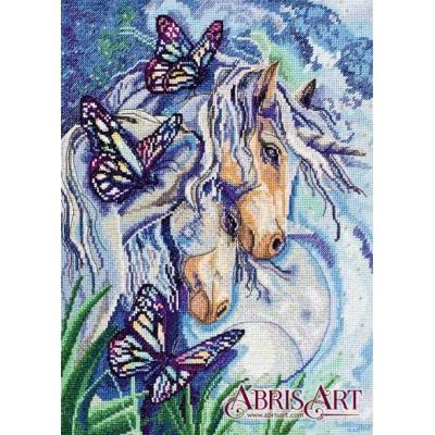 Набор для вышивки крестом - Абрис Арт - Единороги