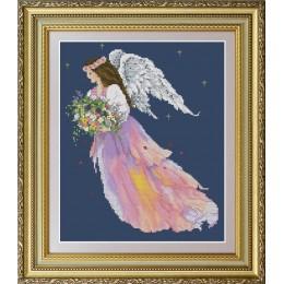 Ангел цветов - OlanTa - набор вышивки крестом