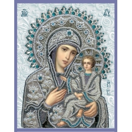 Икона Богородица Тихвинская - Изящное рукоделие - вышивка бисером икон