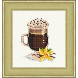 Ванильный кофе - Сделано с любовью - набор вышивки крестом