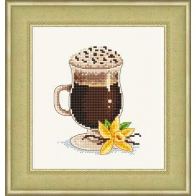 Ванильный кофе - Русский фаворит - набор для вышивки крестом