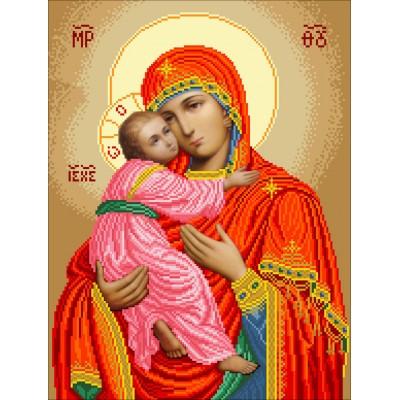 Набор для вышивки бисером икон - БС Солес - Богородица Владимирская