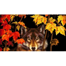 Авторский набор для вышивки бисером - Токарева А. - Волк в лесу 37-2304-НВ