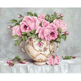 Вышивка гобеленовым швом - Luca-S - Розовые розы