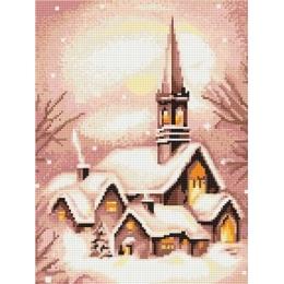 Набор для вышивки крестом - Luca-S - B401 Заснеженная церковь