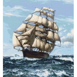Набор для вышивки крестом - Luca-S - B438 Корабль