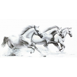 Белые лошади - Luca-S - набор для вышивки крестом