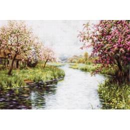 Весенний пейзаж - Luca-S - набор для вышивки крестом