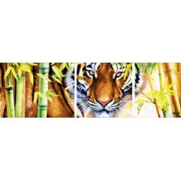 Авторский набор для вышивки бисером - Токарева А. - ДАЛЬНЕВОСТОЧНЫЙ ТИГР (триптих) 45-2940-НДТ