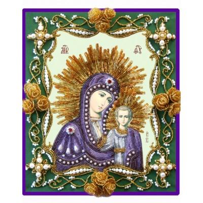 Вышивка бисером икон - Изящное рукоделие - Икона БОГОРОДИЦА