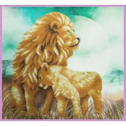 Львы - Картины бисером - набор для вышивки бисером