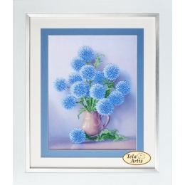 Синие пушистики - Тэла Артис - набор вышивки бисером