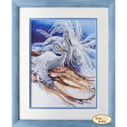 Набор для вышивки бисером - Тэла Артис - НГ-052 Белоснежные цапли