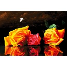 Авторский набор для вышивки бисером - Токарева А. - Натюрморт с розами 40-4510-НН