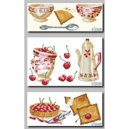 Схема для вышивки бисером - Орхидея ТМ - Триптих кухонный натюрморт