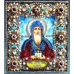 Святой Олег- Образа в каменьях - вышивка бисером икон